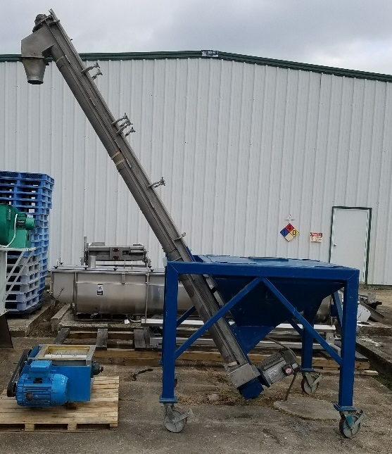 used Inclined Screw Conveyor/Feeder. 6