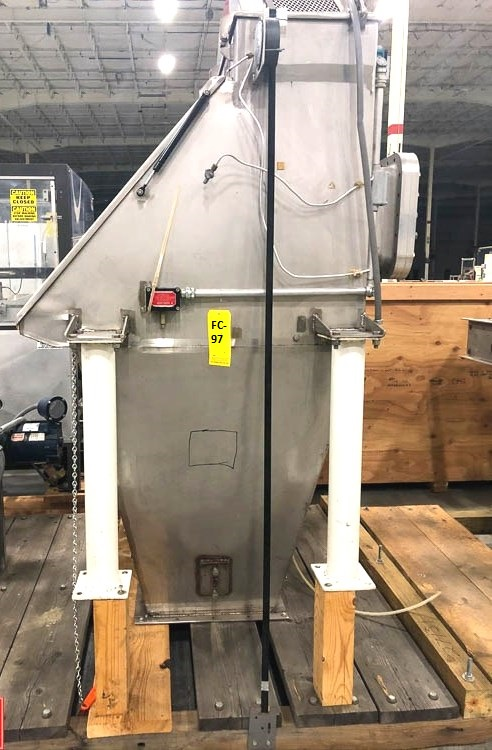 used Bag Dump Station built by American Process Systems. Stainless Steel construction. Model FBD200, S/N 4409. Last used in sanitary food plant.
