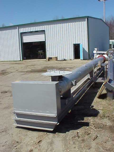 Used CHEMTEC/ARMSTRONG Wiped Film / Scraped surface exchanger / Crystallizer / Evaporator. 316 Stainless Steel contacts. 324mm dia. x 9130 mm jacketed length. Approximately 100 sq.ft. surface area.  10500 mm overall length.  3 HP gearmotor, 415 vac/3ph/50 hz, flame proof drive,  Approximately 10 RPM output.  Rated 10 kg/cm2 @ 50 C or -28.8 C. (142 PSI @ 122 F or - 19.8 F). Last used as Menthol crystallizer.